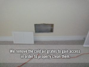 cold air grate removed