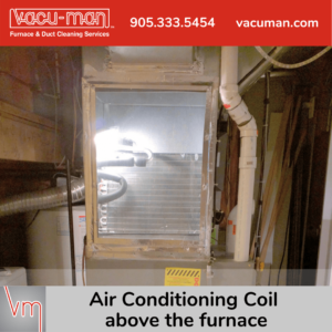 AC Coil Above Furnace
