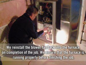 reinstalling blower fan