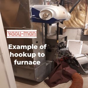 Furnace hookup with vacuum