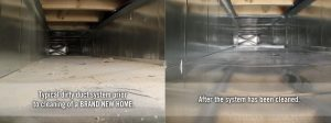 dirty and clean air duct system