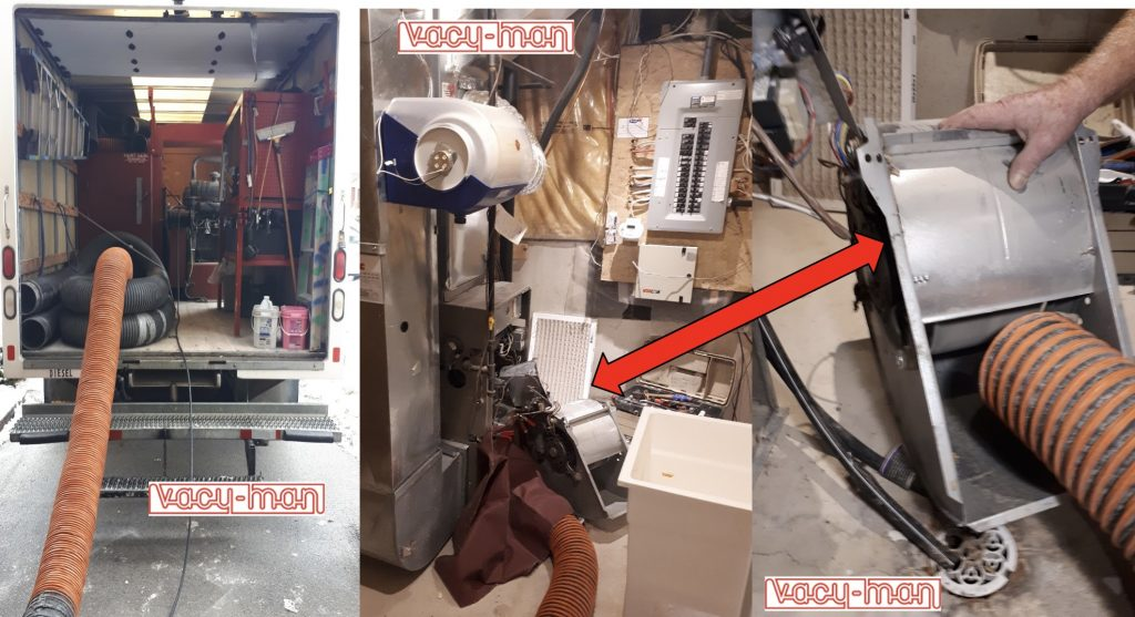 Vacu-Man - Truck - furnace - blower fan