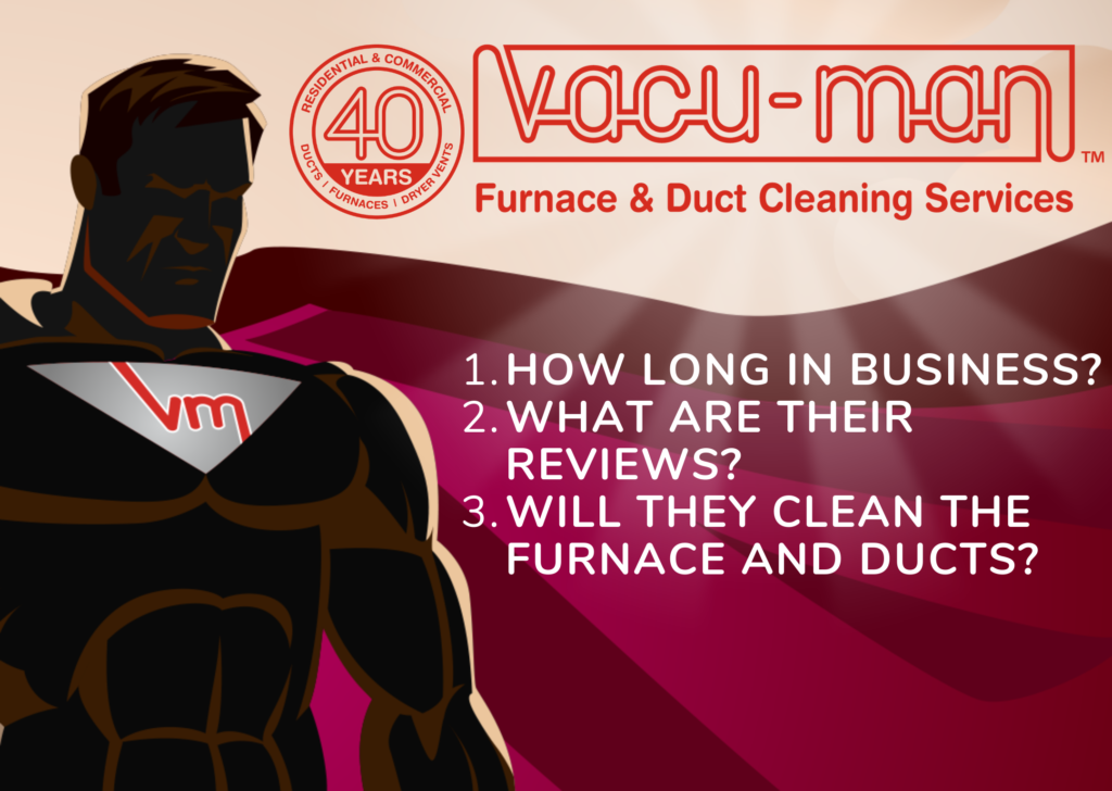 Top 3 things to look for with duct cleaning