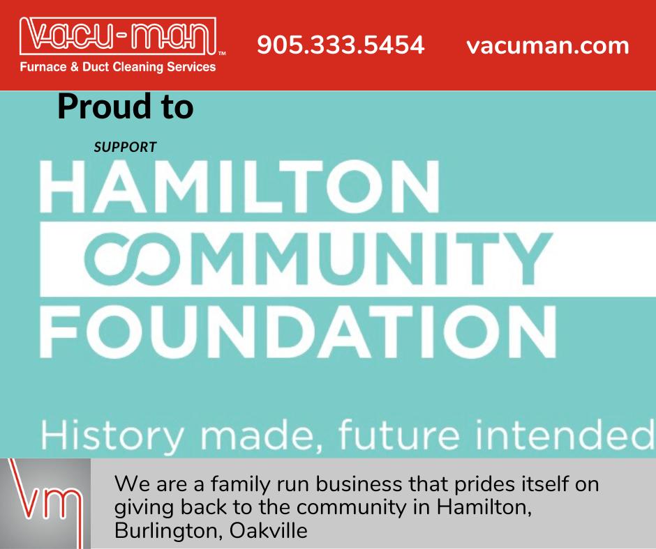 Vacu-Man supports Hamilton Community Foundation