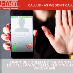 warning duct cleaning calls