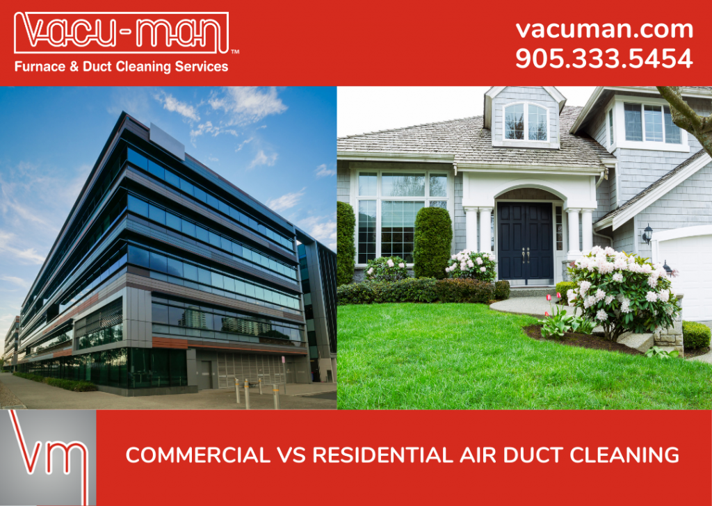 Commercial vs Residential Air Duct Cleaning